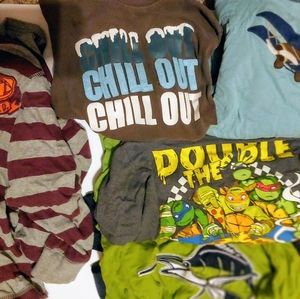 Boys lot size 7 6/7 long sleeve tee shirts tshirts